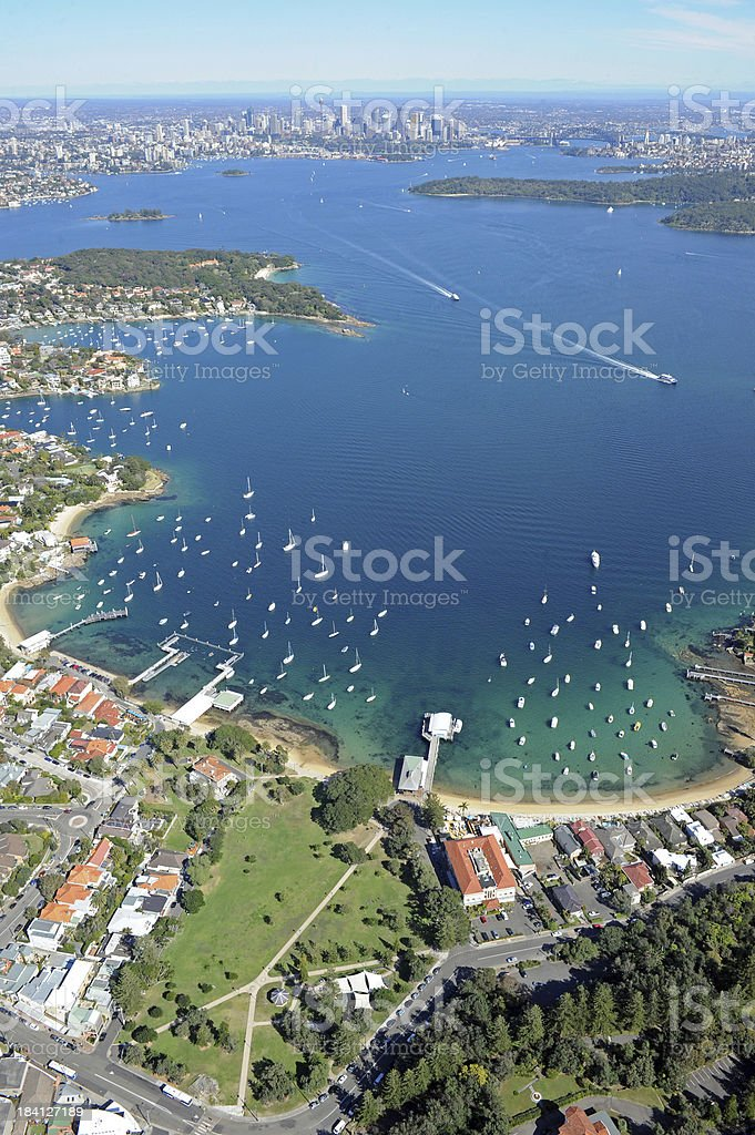 Aerial Photo of Sydney Harbour stock photo