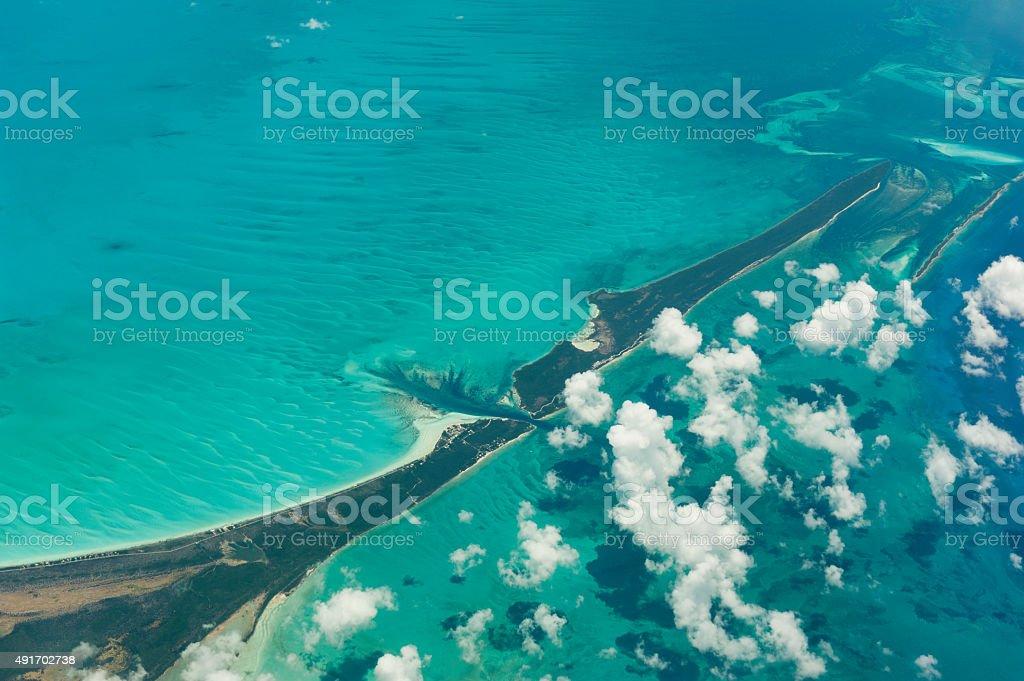 aerial photo of the bahamas stock photo