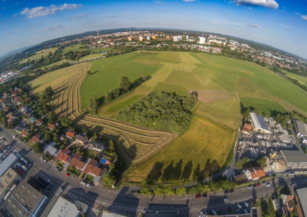 Aerial photo of the landscape near the main-danube channel near Erlangen in Bavaria Aerial photo of the landscape near the main-danube channel near Erlangen in Bavaria in south Germany erlangen stock pictures, royalty-free photos & images
