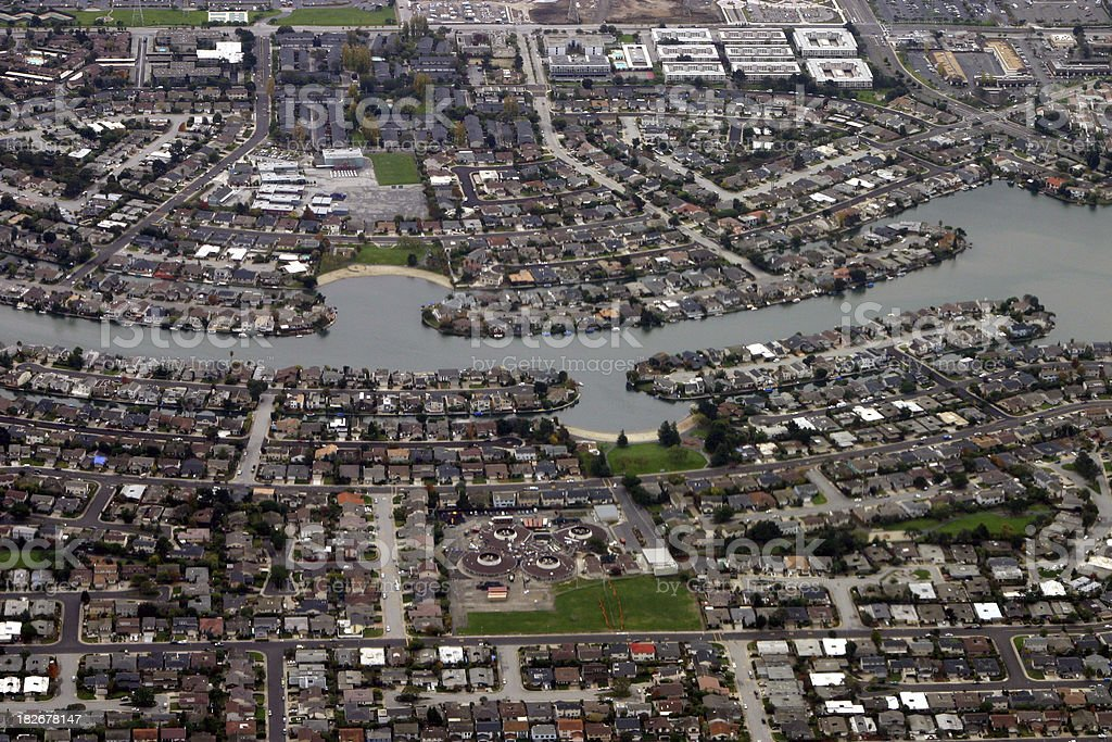 aerial photo of  urban city - dense housing royalty-free stock photo