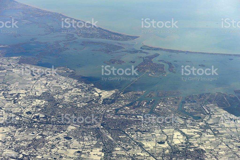 aerial photo of venice, italy royalty-free stock photo