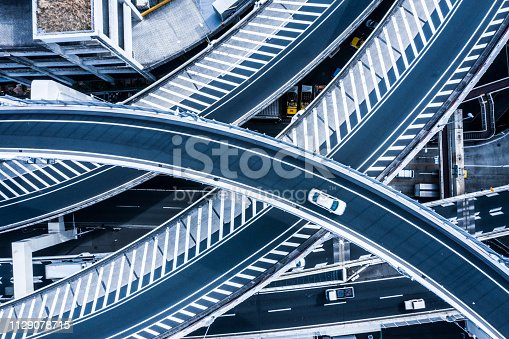 Multi-level crossing. Viewpoint from directly above.
