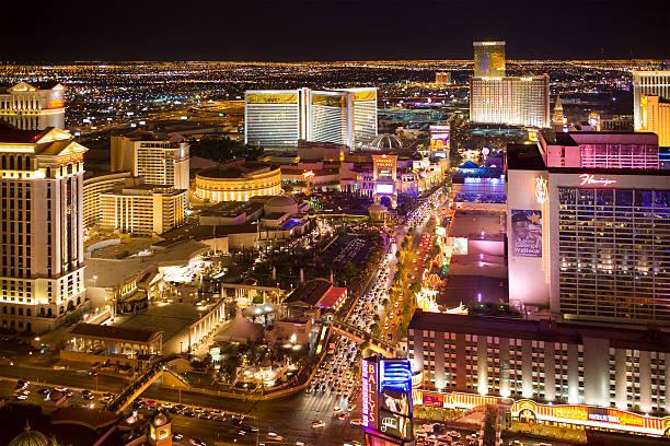 Aerial photograph of Las Vegas Blvd. stock photo