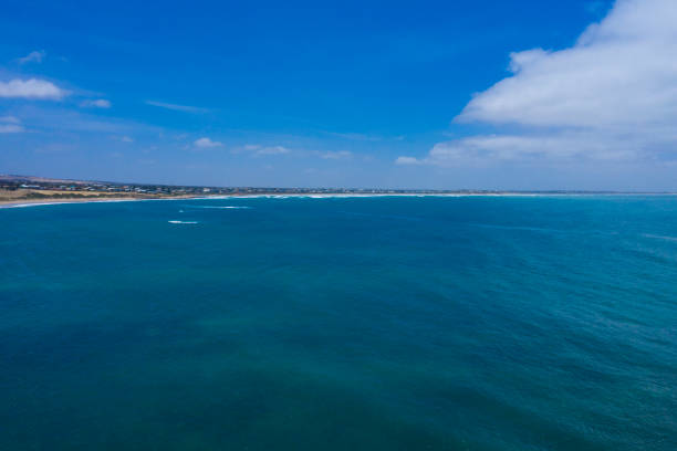 Aerial photograph of the Great Australian Bight in South Australia stock photo