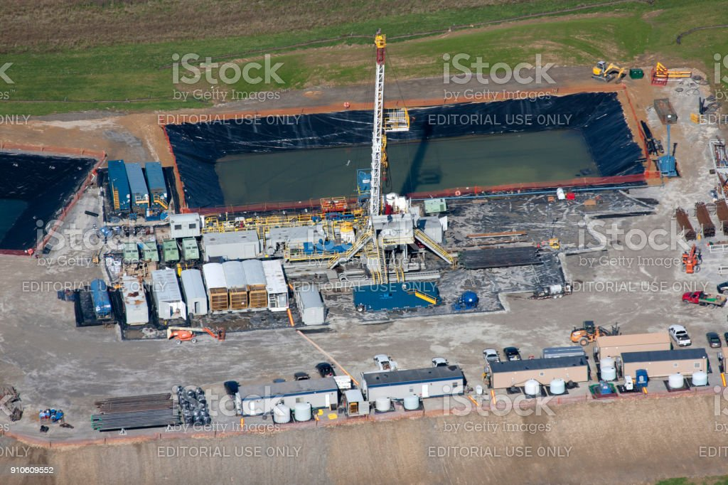Aerial photographs of Drilling rigs stock photo