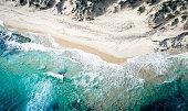 Aerial photographs of the coast in Australia.
