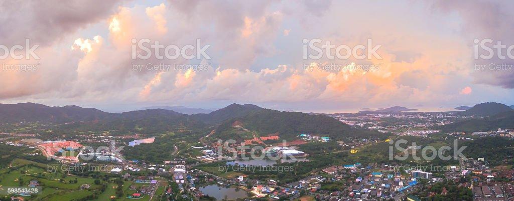 aerial photography around Bangwad dam photo libre de droits