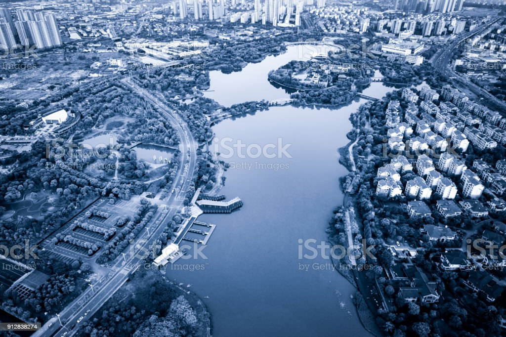 Aerial Photography Chinese City Stock Photo More Pictures Of