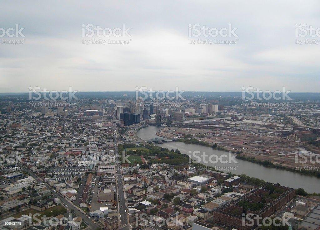 aerial photography of a american city royalty-free stock photo