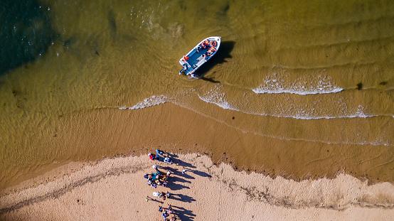 Aerial photography of Fabrica Beach in Cancela velha Portugal On Algarve.