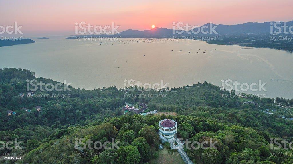 aerial photography on khao khad royalty-free stock photo