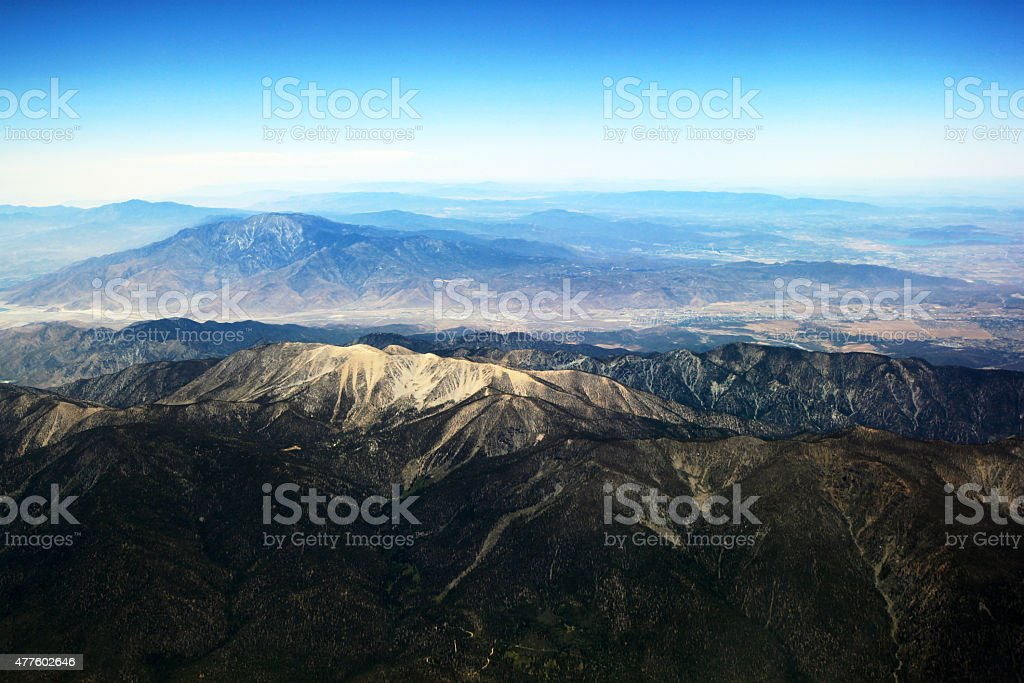 Aerial photography - San Bernardino National Forest & Mt San Jacinto stock photo