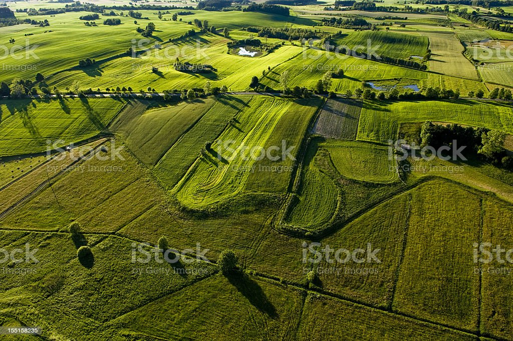 Aerial photos of farm land in the country royalty-free stock photo