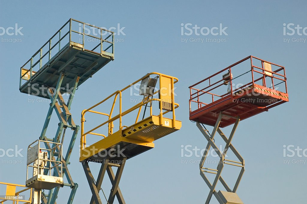 Aerial Platforms royalty-free stock photo