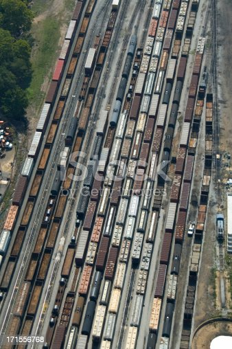 istock Aerial Railroad Abstract 171556768