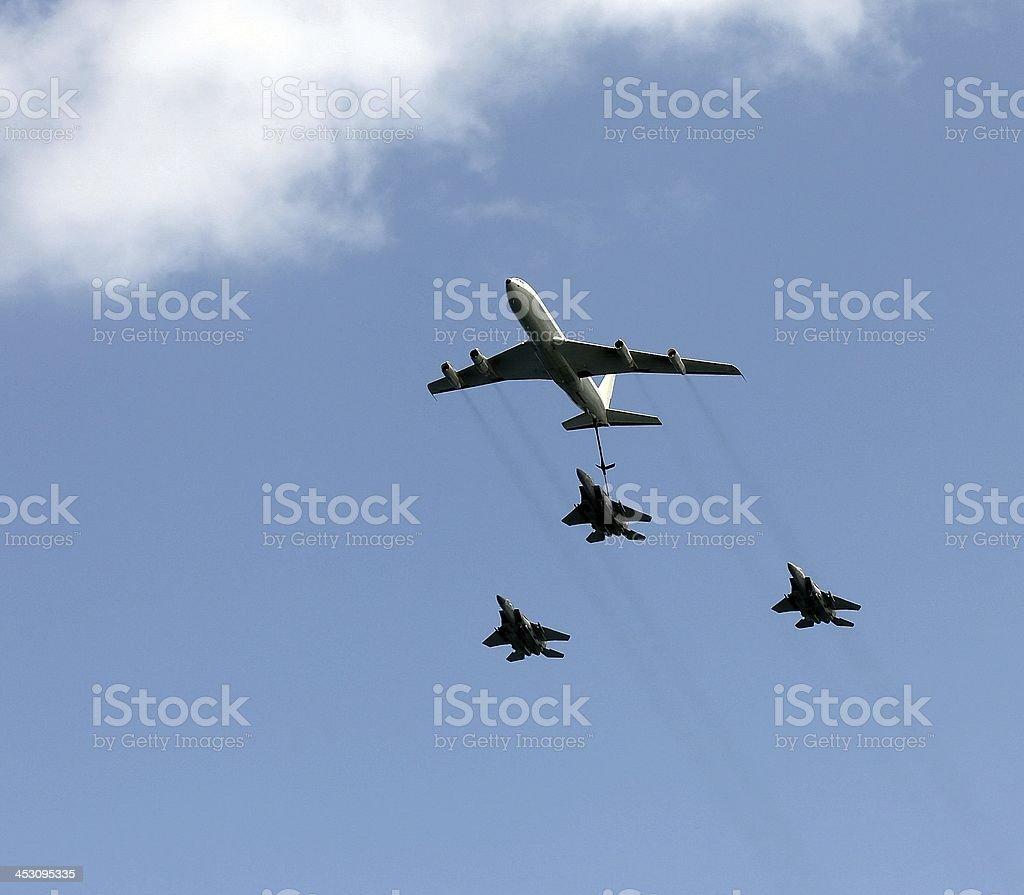 Aerial refueling stock photo