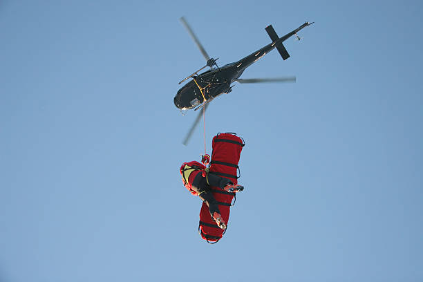 Aerial Rescue Platform stock photo