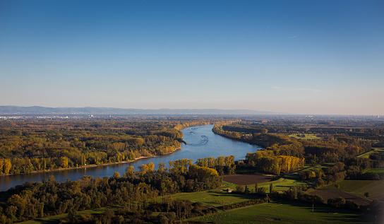 Aerial Rhine Hesse