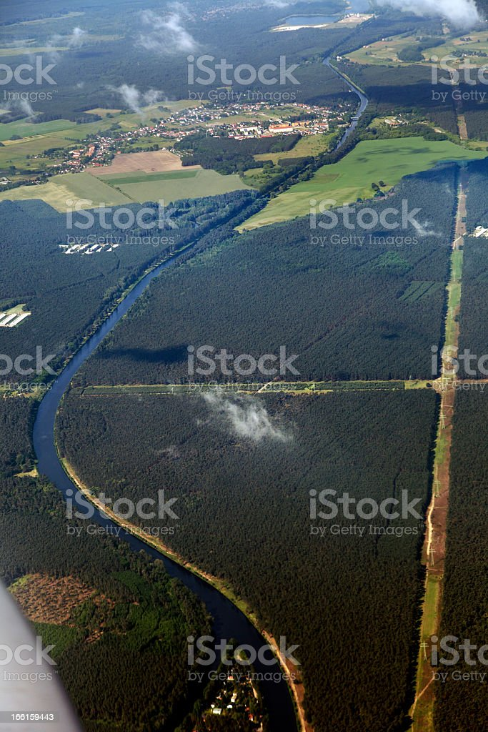 Aerial River View royalty-free stock photo