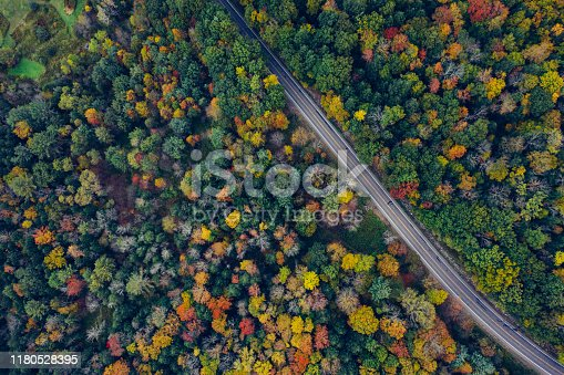 Aerial Road Trip in Catskill Mountains Preserve