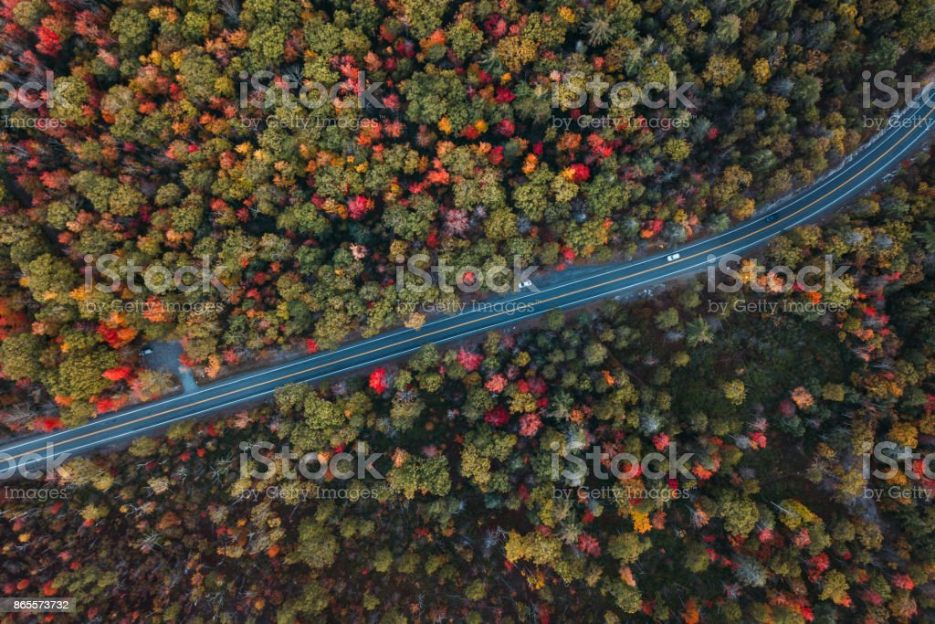 Aerial Road Trip in Minnewaska State Park Preserve royalty-free stock photo