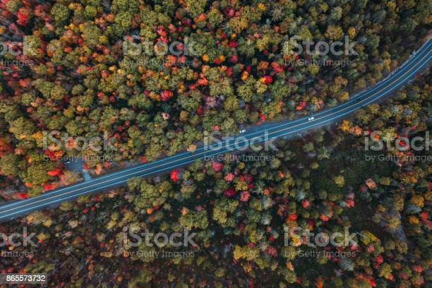Aerial Road Trip In Minnewaska State Park Preserve Stock Photo - Download Image Now