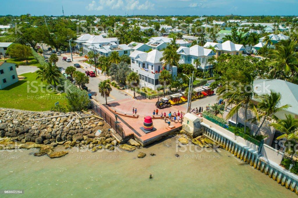 Aerial scenic Key West Florida photo stock photo