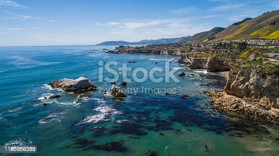 Cliffs on the Californian West Coast, Pacific Ocean, USA