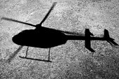 Aerial of Helicopter Shadow