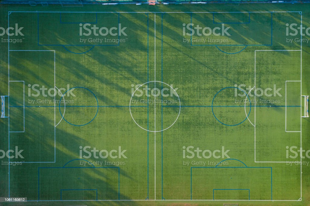 0ba5cfdc7 Aerial Shoot Of Football Court Stock Photo & More Pictures of Aerial ...