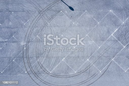 istock Aerial shooting of a parking lot with nobody. 1080101112