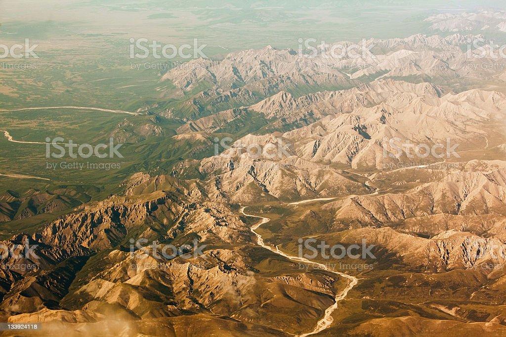 Luftaufnahme: Ausläufer der Berge Altai – Foto