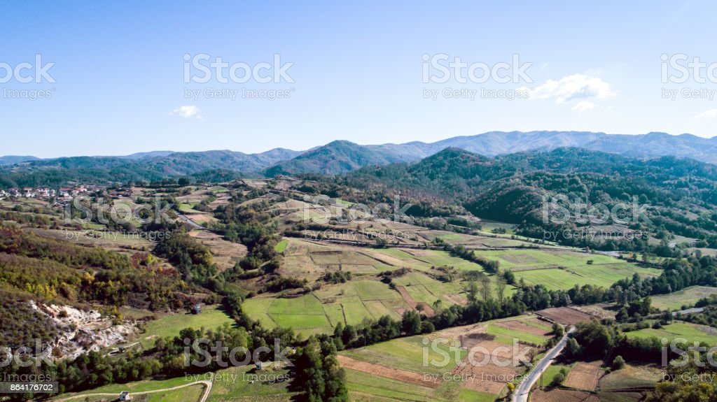 Aerial Shot Of Country Side royalty-free stock photo