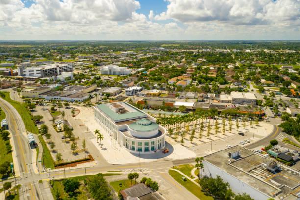 Aerial shot of Downtown Homestead Miami Dade Florida