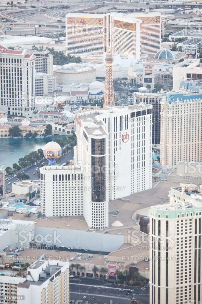 Aerial Shot of Planet Hollywood Hotel and Casino Daytime stock photo