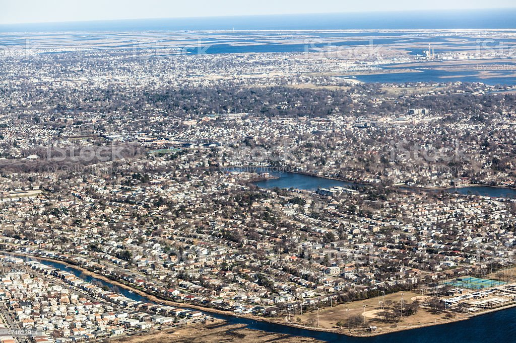 aerial shot of queens new york stock photo  download