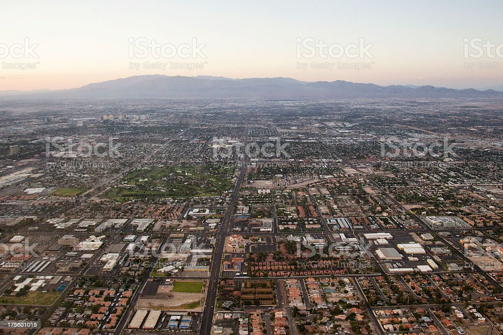 Aerial Shot of Residential Las Vegas stock photo
