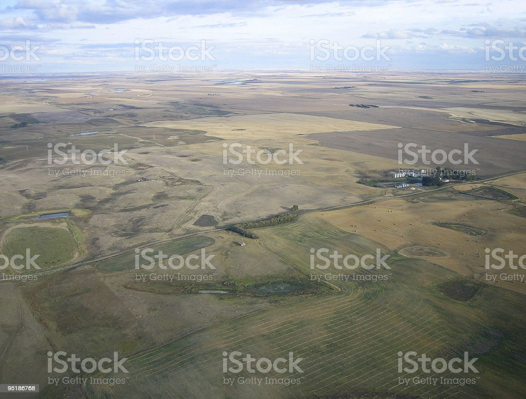 aerial shot of Saskatchewan royalty-free stock photo