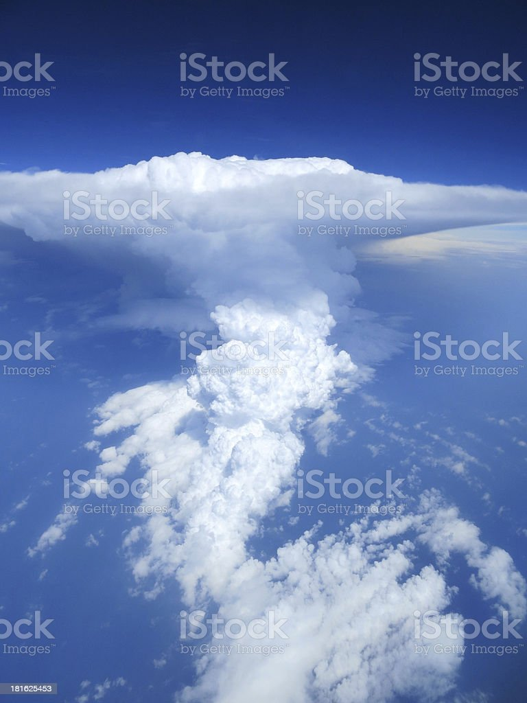Aerial shot of thunderstorm cloudscape royalty-free stock photo