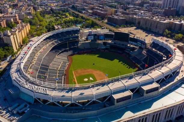 Aerial shot of Yankee Stadium NY