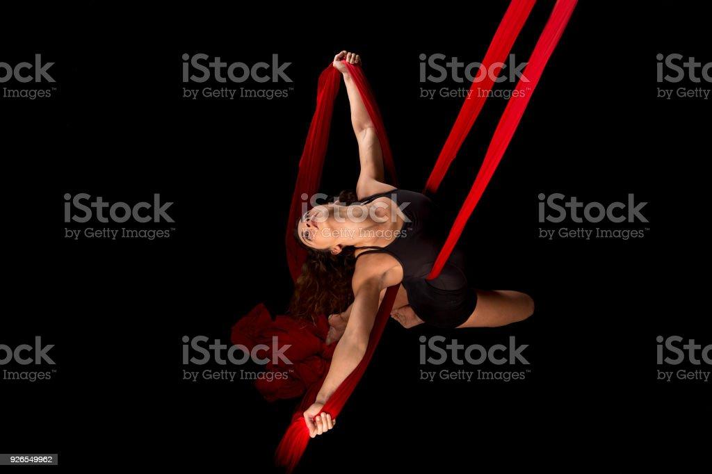 Rendimiento de tela aérea - foto de stock