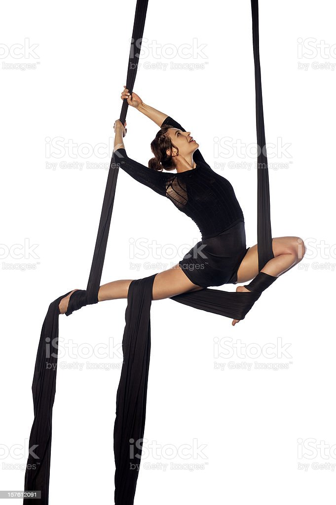 aerial silks royalty-free stock photo