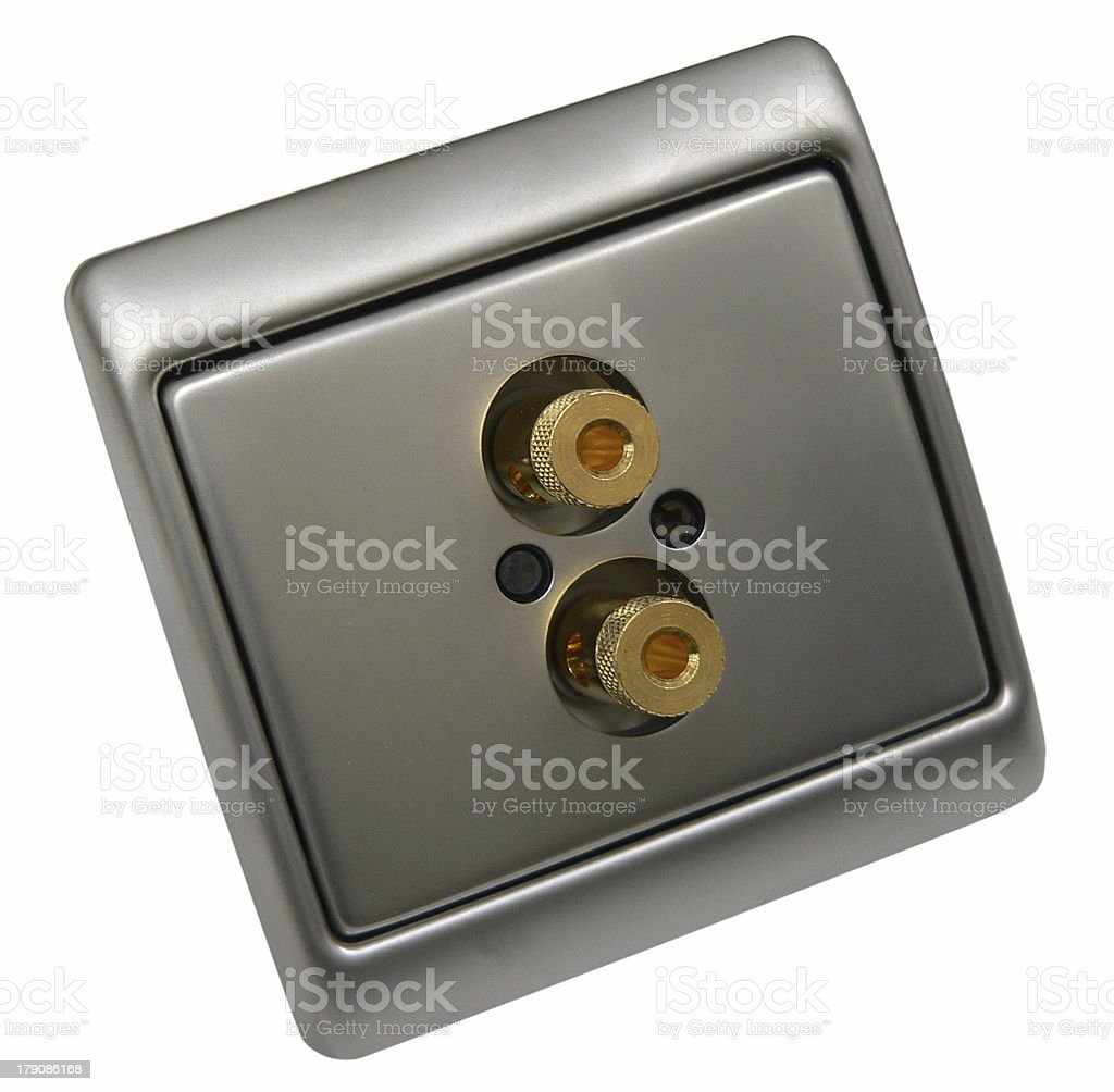 Aerial socket outlets royalty-free stock photo