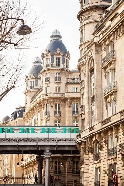 Aerial Subway in Paris stock photo