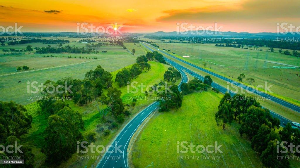 공중 고속도로 - 로열티 프리 0명 스톡 사진