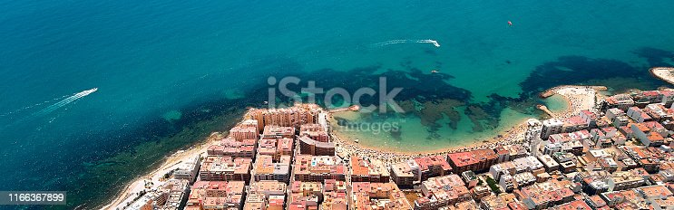 istock Aerial top panoramic image drone view Torrevieja resort 1166367899
