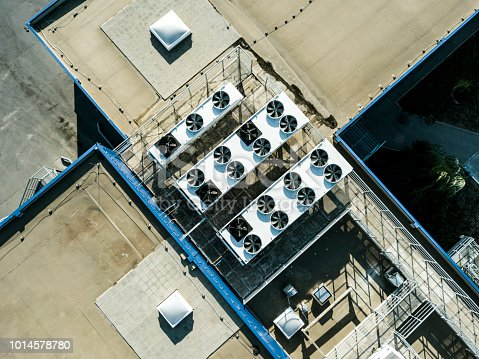 istock aerial top view of air compression ventilation system on the rooftop 1014578780