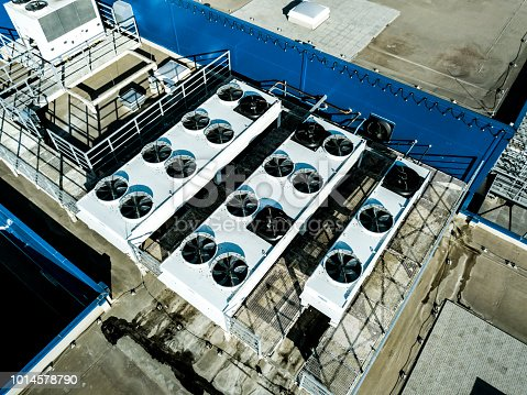 istock aerial top view of air compression ventilation system on the rooftop 1014578790