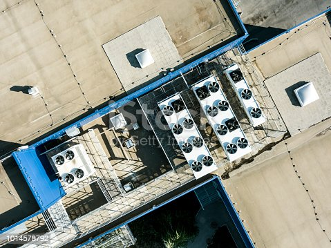 istock aerial top view of air compression ventilation system on the rooftop 1014578792