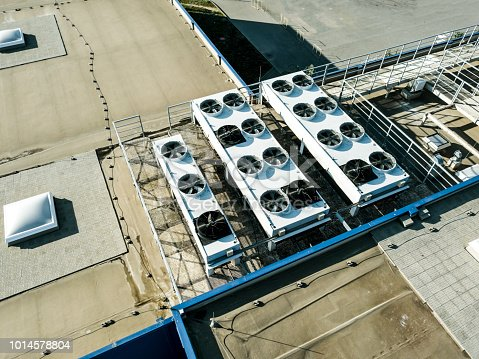 istock aerial top view of air compression ventilation system on the rooftop 1014578804